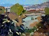 "View Of Cortona by Vcevy Strekalovsky Oil ~ 6"" x 8"""