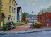Afternoon in Hingham Square by Vcevy Strekalovsky Oil ~ 12 x 16""