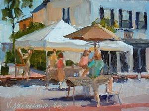 """Farmers"""" Market 2 by Vcevy Strekalovsky Oil ~ 6"""" x 8"""""""