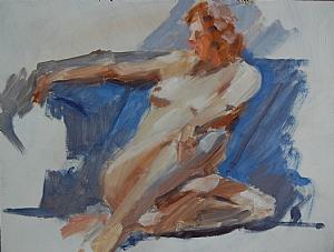 """Melissa 3 by Vcevy Strekalovsky Oil ~ 12"""" x 16"""""""