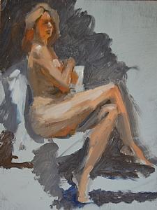"""Melissa 2 by Vcevy Strekalovsky Oil ~ 16"""" x 12"""""""