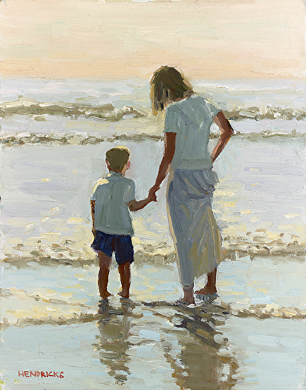 Wading In - Oil