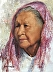 Native Lady in Red  3 by Luverne Lightfoot