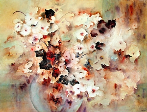 Autumn Arrangement by Susan Adams Watercolor ~ 22 x 30""