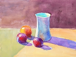 """Indoor Study with White Pitcher"""