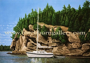 Champlain Afternoon by Loren Blackburn  Watercolor ~ 20 x 30