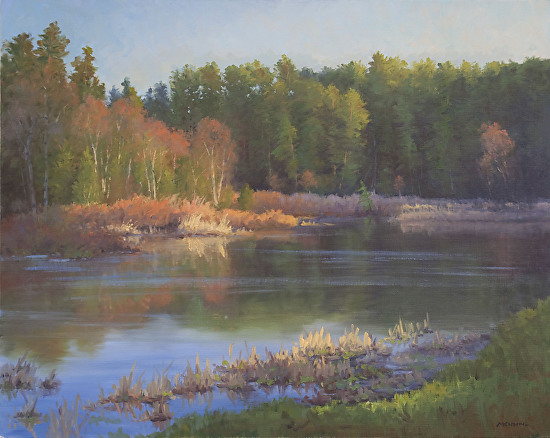 Adirondack Pond in Spring - Oil