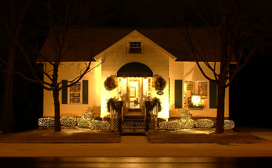 Gallery Exterior Holiday front view -
