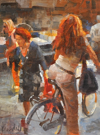 "Redheads by James Crandall Oil ~ 16"" x 12"""