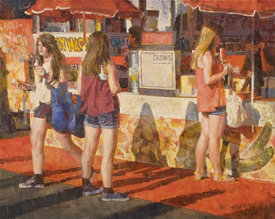 "3 Graces by James Crandall Oil ~ 24"" x 30"""