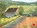 Country Vineyards by melanie nogawski Oil ~ 11 x 14