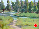 A Stream in Idaho by melanie nogawski Oil ~ 8 x 10