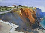 Santa Cruz, Prtugal by Eugen Chisnicean Watercolor ~ 45cm x 60cm