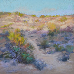 "Christine Debrosky - ""I'll follow the Sun"", plein air to studio pastel"