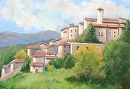 Hilltop Village of Labro, Italy by Doris Olsen Acrylic ~ 11 x 14