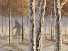 """The Squatch (detail)"" by Robert Brandenburg Oil on canvas ~  x"