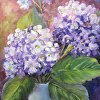 Purple Glow  Hydrangeas oil painting,Floral,