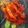 Rose Red  oil painting