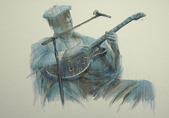 Blues Series - The Blues Man - Pastel