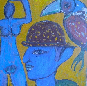 That hat by Stephen Langdon Acrylic ~ 82cm x 82cm