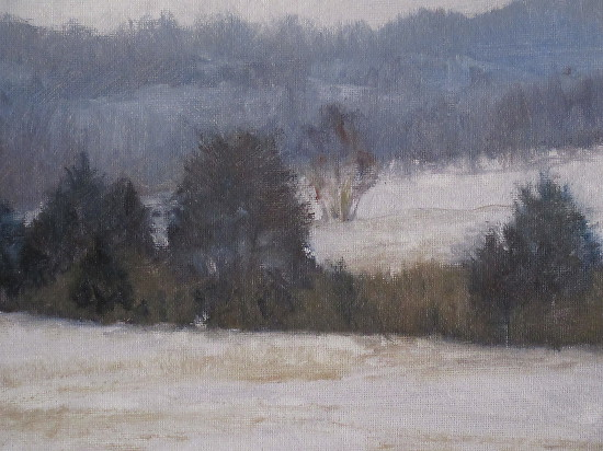Winter's scene - Oil