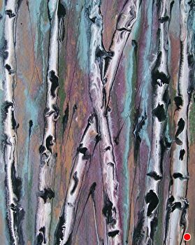 "Abstracted Aspens #68 by Kimberly Conrad Acrylic ~ 10"" x 8"""