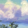 Sky Brushwork 8 by Karen E. Lewis  ~  x