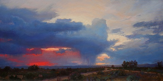 Dusk on the Mesa - Oil