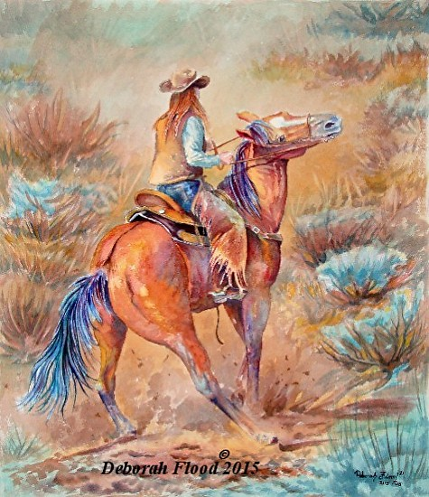Drama Queen 20 x 18 Watercolor Large Web view -