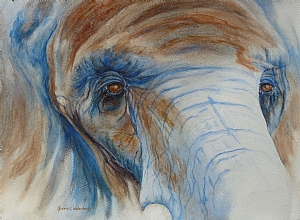 "Wisdom Patience, watercolor by Ginnie Conaway Watercolor ~ 10"" x 14"""