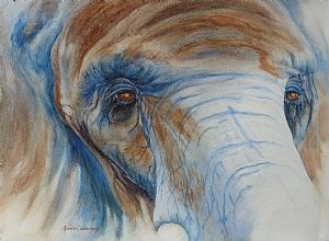 "Wisdom Patience, watercolor by Ginnie Conaway Watercolor ~ 10"" x 14"""