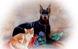 """'Friends?', watercolor by Ginnie Conaway Watercolor ~ 22"""" x 30"""