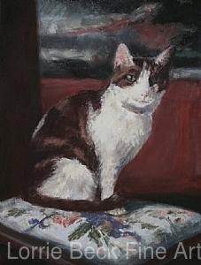 "Cat Portrait in Pastel ""Alice"" by Lorrie Beck Pastel ~ 12 x 9"