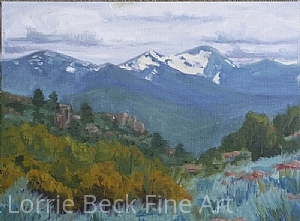 "New Mexico Plein Air Painting ""Taos"" by Lorrie Beck Oil ~ 9 x 12"