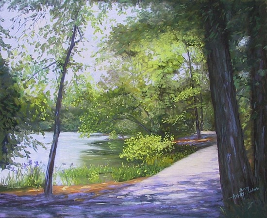 Callaway Gardens- Shadows Across the Path - Pastel