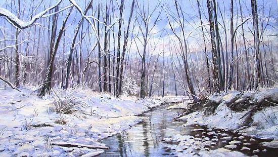 Winter Woods - Pastel