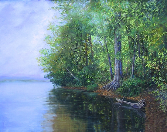 Lakeside Light - Lake Nockamixon - Pastel