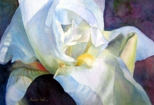 June's Iris by Adele Park Watercolor ~  x