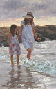 hand in hand by Bill Farnsworth Oil ~ 14 x 9
