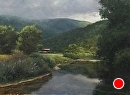 Watauga River by Bill Farnsworth Oil ~ 23 x 32