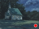 Midnight Mass by Bill Farnsworth Oil ~ 6 x 8
