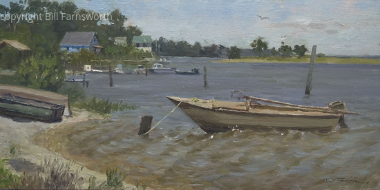 Wind Picking Up by Bill Farnsworth Oil ~ 12 x 24