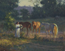 Sunlight and Oats by Bill Farnsworth Oil ~ 16 x 20