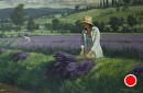 Lavendar Harvest by Bill Farnsworth Oil ~ 24 x 36
