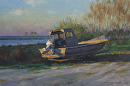 Sun Up by Bill Farnsworth Oil ~ 12 x 21