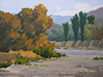 Autumn Riverbed by Kim VanDerHoek Oil ~ 9 x 12