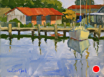Maritime Reflections by Kim VanDerHoek Oil ~ 9 x 12