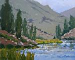 Beyond the Lake's Edge by Kim VanDerHoek Oil ~ 8 x 10