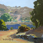 Rural Route by Kim VanDerHoek Oil ~ 6 x 6