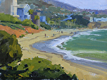 Overlooking Aliso Beach by Kim VanDerHoek Oil ~ 9 x 12